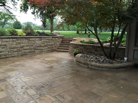 custom paver patios in kansas city supreme green landworks