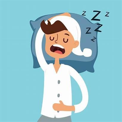 Vector Sleeping Sleep Illustration Bad Night Pain