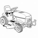 Lawn Mower Lawnmower Turn Zero Drawing Getdrawings Tractor Garden sketch template