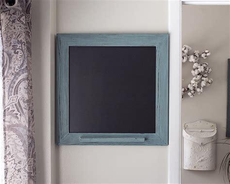amazoncom rustic framed chalk marker board turquoise