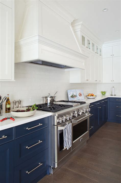 blue and white kitchen cabinets 35 two tone kitchen cabinets to reinspire your favorite