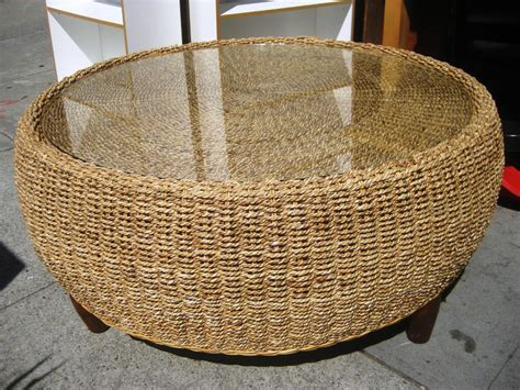 round seagrass coffee table round seagrass coffee table