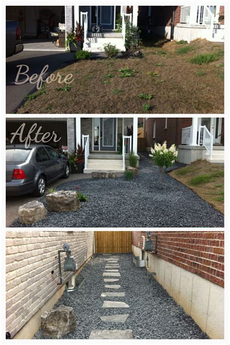 driveway small yard patio front house landscaping ideas circular   budget recognizealeadercom