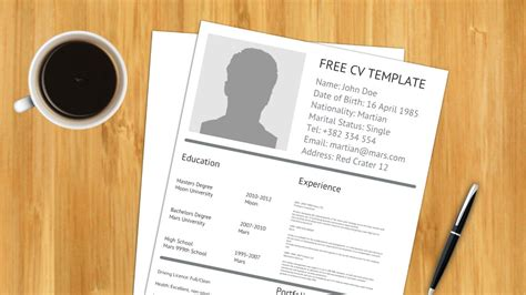 16001 resume template with picture free cv resume prezi template