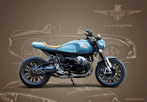 Bmw R Nine T Roadster by Bmw R Ninet Mini Superleggera Concept Tamas Jakus A