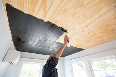Diy Deck Ceiling by How To Install A Reclaimed Wood Ceiling Treatment How