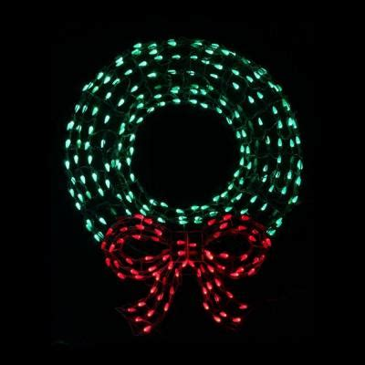 red c5 led christmas lights home accents holiday 36 in led outdoor wreath with bow