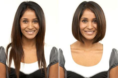 women   cut  hair