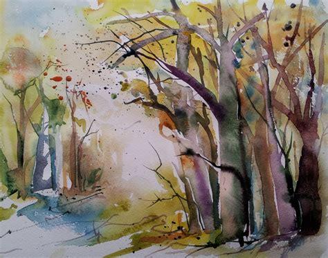 abstraktes doodles aquarellkunst