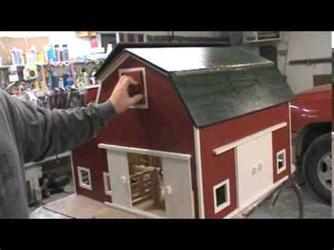 hip roof toy barn  kauffmans wood kreations youtube