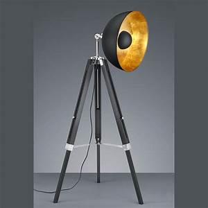 Retro Lampe Holz : schwarze stehleuchte im fotolicht design ~ Indierocktalk.com Haus und Dekorationen