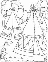 Coloring Native American Pages Preschoolers Adults Popular sketch template