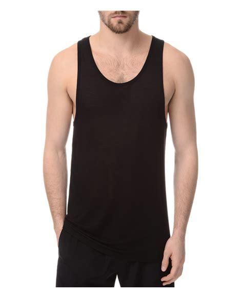slim fit tank top atm modal slim fit tank top in black for lyst