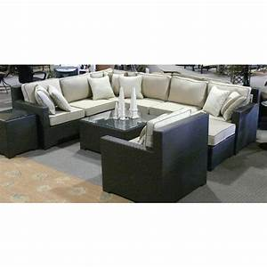 Malibu all weather wicker sectional collection by chicago for Malibu outdoor sectional sofa