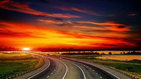 Beautiful Sunset Landscape Cool Backgrounds Wallpapers