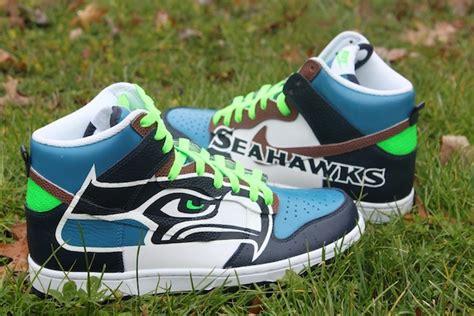 seattle seahawks custom shoes nikes chucks  cleats