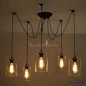 Light swag pendant indoor ceiling fixture with clear