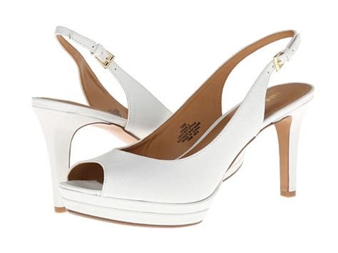 Nine West Able White Leather 2 | Shipped Free at Zappos