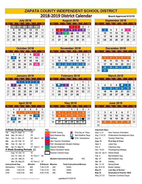 zapata county independent school district calendar