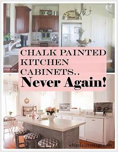 chalk painted kitchen cabinets never again white lace With best brand of paint for kitchen cabinets with countertop stickers