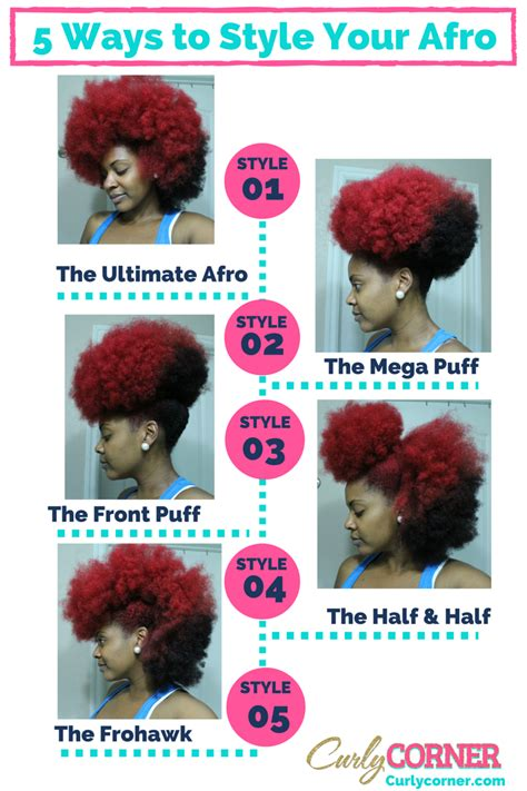 5 Ways To Style Your Fro Pin  Curly Corner