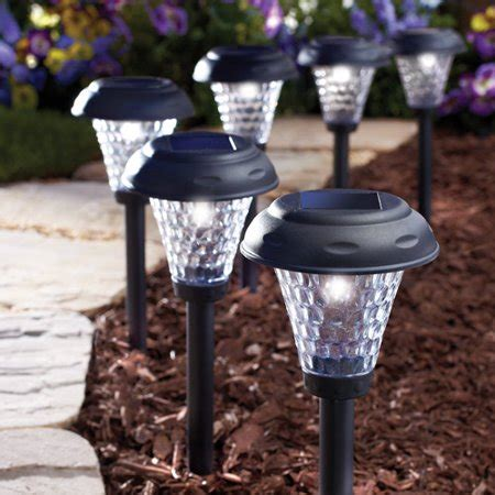 solar lights walmart moonrays 91381 payton style solar powered led path lights