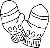 Coloring Gloves Winter Printable sketch template