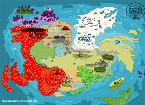 Adventure Time World Map