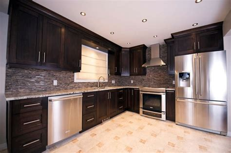 kitchen with walnut cabinets custom kitchen cabinets calgary evolve kitchens 6559