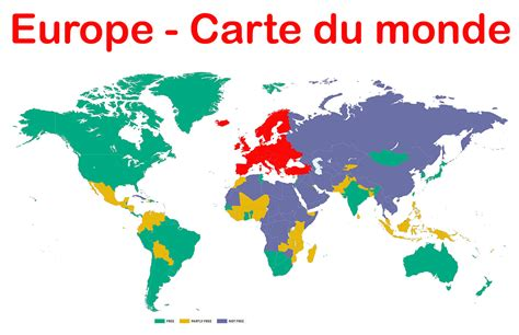 La Carte Du Monde Europe carte du monde europe