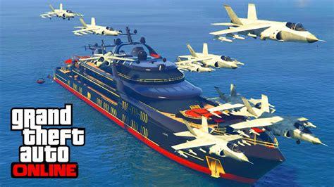 Yacht Gta Online by Missiles Yacht Vs Hydra Gta 5 Online Youtube