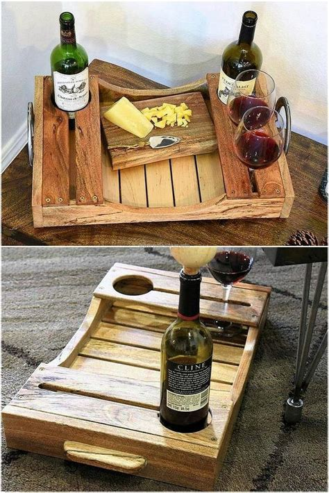 unique pallet tray ideas  pinterest wooden serving trays serving tray wood  pallett