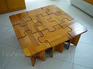 DIY Puzzle Coffee & Side Tables - Do-It-Yourself Fun Ideas