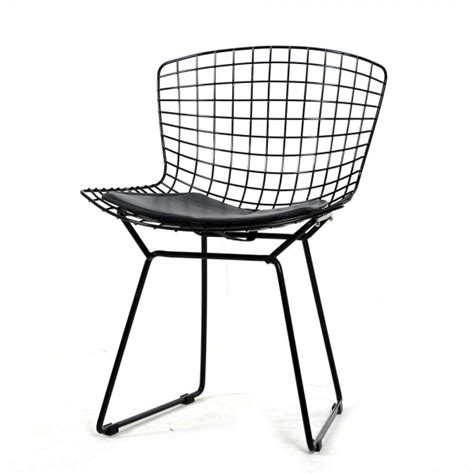 black bertoia wire chair 2pcs