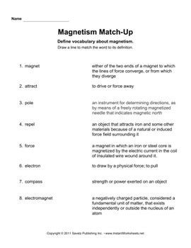 magnetism worksheet by savetz publishing teachers pay teachers