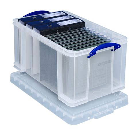 bo 238 te de rangement plastique a4 avec couvercle 48 litres boite de rangement classement
