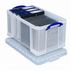 Boite Metal Rangement Papier Administratif : bo te de rangement plastique a4 avec couvercle 48 litres ~ Premium-room.com Idées de Décoration