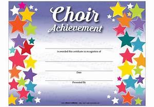 choir certificate template art and music award With choir certificate template