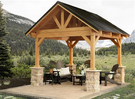 breckenridge wood pavilion amish yard