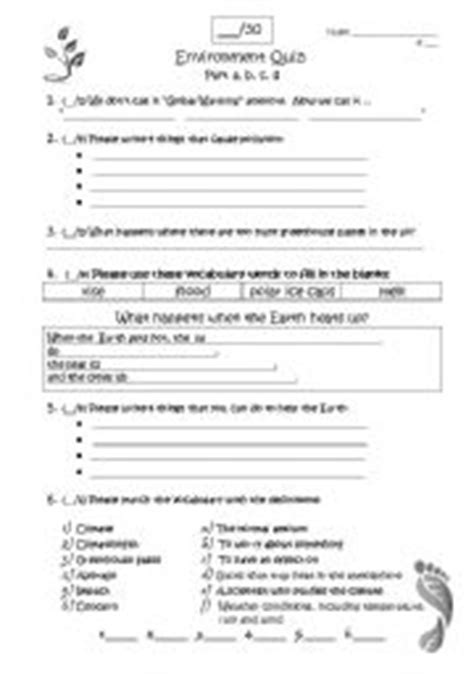 Climate Change Worksheets