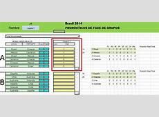 Penca Prode Excel Mundial Brasil 2014, completo! y