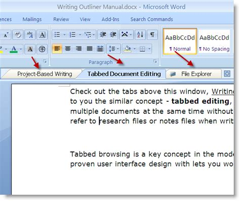 tabbed editing edit multiple documents    time