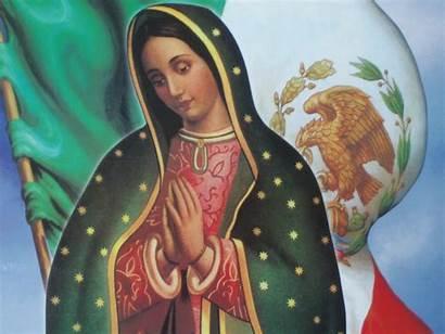 Diciembre Virgen Guadalupe Trabaja Bandera Mx Mexico