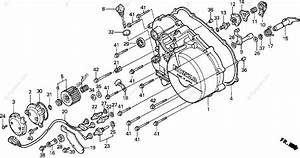 Honda Atv 1996 Oem Parts Diagram For Right Crankcase Cover