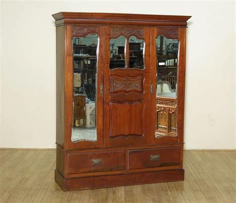 Wardrobe Armoire by Antique Walnut 2 Door Armoire Wardrobe