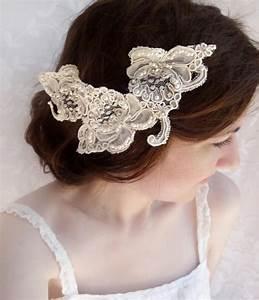 Lace Wedding Hair Accessories Rhinestone Embellished