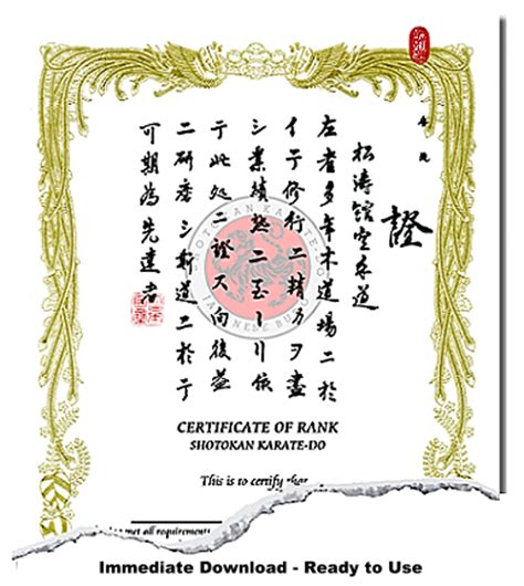 Martial Arts Certificate Template by Karate Certificate Template Cominyu Info Cominyu Info