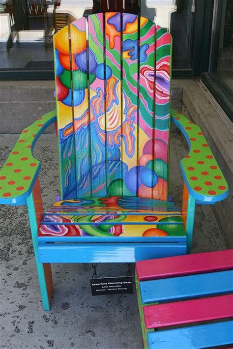 a bright painted chair i so want these chairs