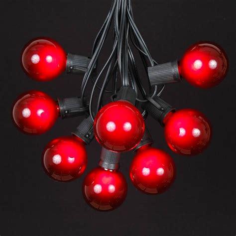 black light satin g50 globe outdoor string light set on
