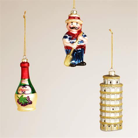italy glass ornaments set of 3 world market